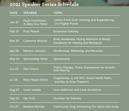 2021 WIR Speaker Series Schedule Graphic