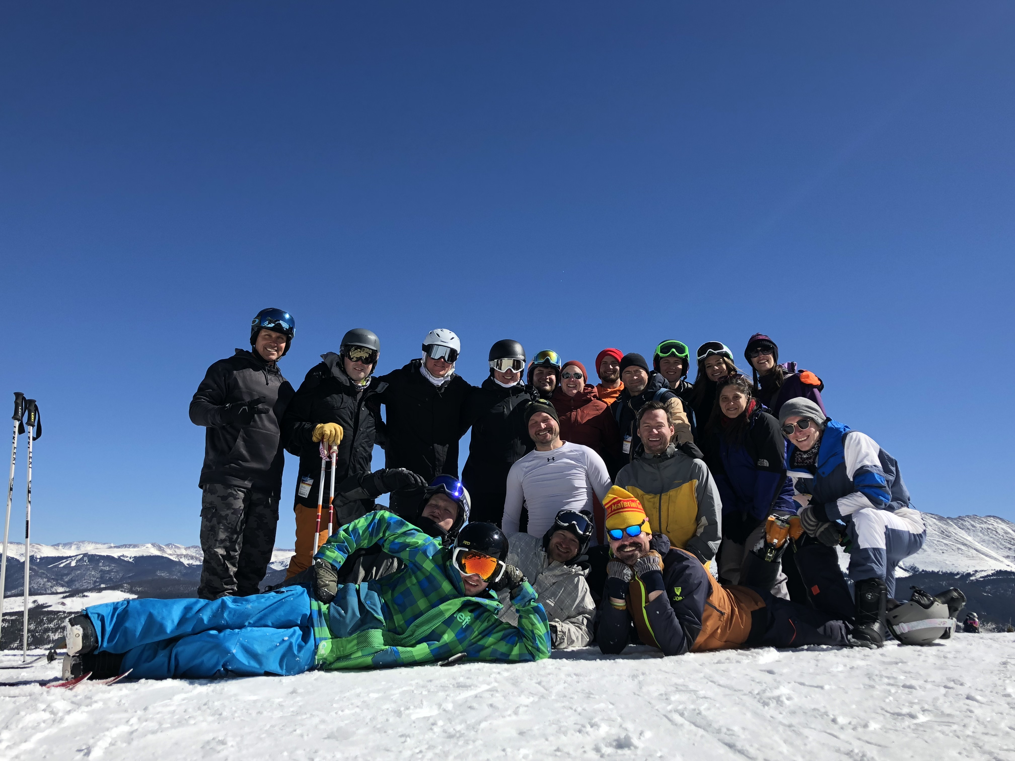 Group Breck mountain